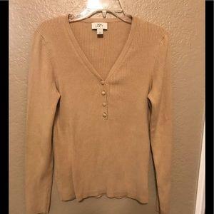 Loft Ann Taylor Tan Sweater